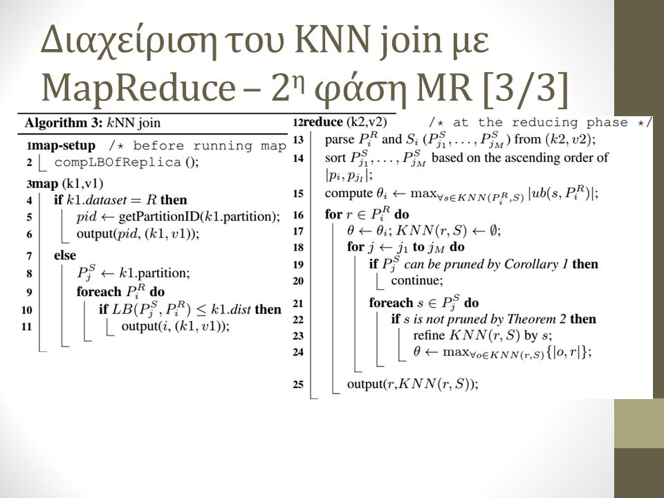 Διαχείριση του KNN join με MapReduce – 2η φάση MR [3/3]